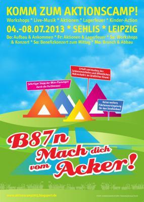 Plakat fürs Aktionscamp
